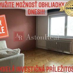 PREDAJ: 2-izbový byt v centre mesta (60m2) s balkónom