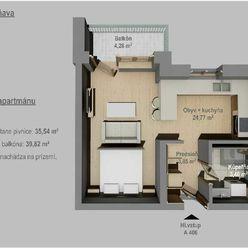 35,54 m²  apartmánový byt v rekreačnej lokalite obce Banka