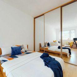 3D PREHLIADKA BYTU: Praktický 1-izbový byt v pokojnej lokalite Nového Mesta