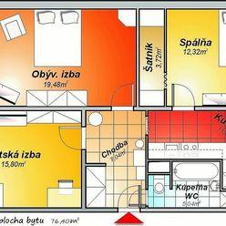 Pekný 3-izbový byt v Malackách
