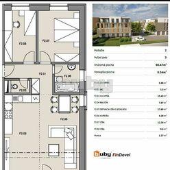 Byty Ruppeldtova: Na predaj 3 izbový byt F2 s balkónom, v novostavbe, Martin - širšie centrum