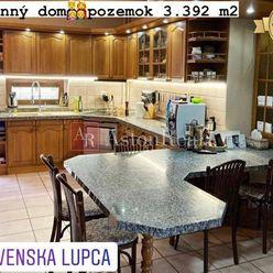 PREDAJ: krásny RODINNÝ DOM, pozemok 3.392 m2, Slovenská Ľupča