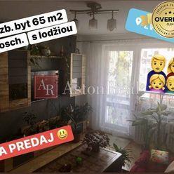 Na predaj: 3 izb. byt 65 m2 s lodžiou, kompletná rekonštr. ZV - Sekier