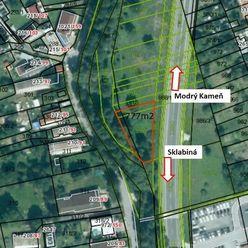 Pozemok na brehu potoka Krtíš, 777m2