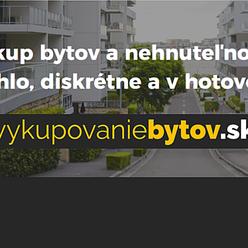 Kúpime 1i. byt/garzónku, platba v HOTOVOSTI, Karlova Ves