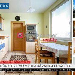 3 izbový byt, 2 balkóny, 75 m2, Chrenová, Nitra + 3D