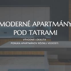 Exkluzivně - Nové apartmány v Poprade