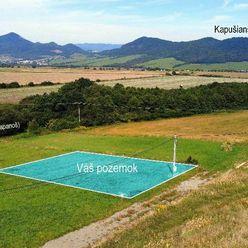 NOVINKA 785 m² Tichý, slnečný pozemok s LUXUSNÝM výhľadom pri Prešove