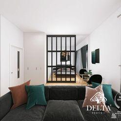DELTA | 1,5 izb. ateliérový byt s predzáhradkou v novom projekte Cubicon Gardens, 80 m2