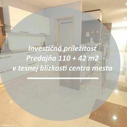Investičná príležitosť - rodinný dom / predajňa 110 + 42 m2 + príslušenstvo na frekventovanej ulici