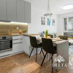 DELTA | PRENÁJOM: NUPPU - Zariadený 2 izbový byt v novostavbe, Ružinov, 54 m2