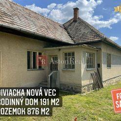 Predaj: Rodinný dom s pozemok 876 m2, Diviacka Nová Ves