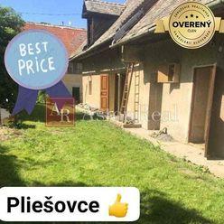 Predaj: Rodinný dom Pliešovce, pozemok 791 m2, 35.000 €