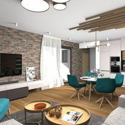 Veľkometrážny 3 izbový byt s vlastnou záhradou
