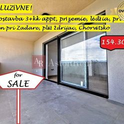 3-izb. apartmán pri mori, 65,80m2, prízemie, Nin, Chorvátsko