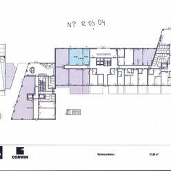 Obchodno - prevádzkové priestory na prízemí v novostavbe BA III, Nové Mesto, Račianska ulica - proje