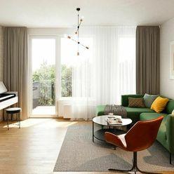 NOVÉ ZLATOVCE - B2.13 - 3-izbový byt, 76 m2, balkón, 2. poschodie/4., NOVOSTAVBA