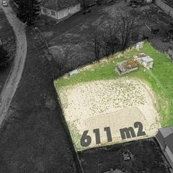 BUZICA - stavebný pozemok na výstavbu RD, 611 m2, len 30 km od Košíc