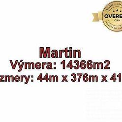 MARTIN - Na Bystričku, pozemok 14 366m2 na developerské účely