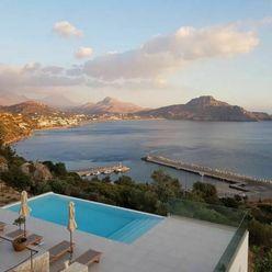 Úchvatná vila s bazénem a otevřeným výhledem na moře, Kréta, Řecko