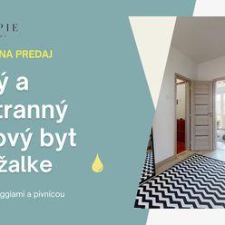 REZERVOVANE - Na predaj slnečný a priestranný 3-izbový byt s dvoma veľkými loggiami v príjemnej čast