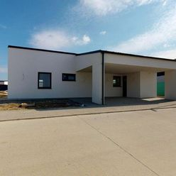 Moderná novostavba s prestrešenou terasou, Nová dedinka