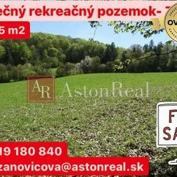PREDAJ: Slnečný rekreačný pozemok pod lesom- Zbora ( 3105m2 )