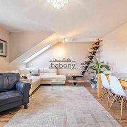 Slnečný trojizbový byt s výhľadom a spálňou v podkroví