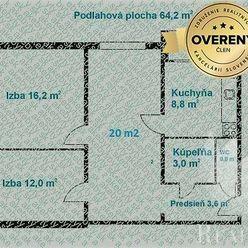 Predaj 3i byt + loggia, Bratislava - Ružinov, Sedmokráskova ul.