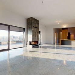 EXKLUZÍVNY PENTHOUSE 212 m2 s veľkou terasou 56m2 a tromi parkovacími miestami Kramáre