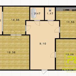 Rezervovaný - Ponúkame na predaj 3-izbový byt s loggiou na Prievozskej ulici.