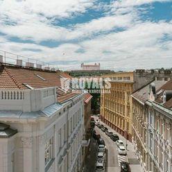 Nové byty s balkónom, tichý dvor, výhľad na Bratislavský hrad