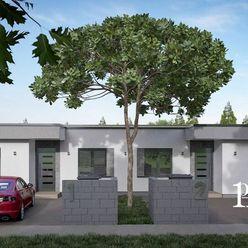 Moderné dvojdomy s plochou strechou