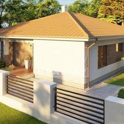 Na predaj montovaná drevostavba rodinného domu, Malé Krštenany, 120m2, celkovej ploche 540 m2.
