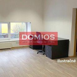 Prenájom samost. kancelárie (24,50 m2, 1. p., 1k, kuchynka, WC, parking)