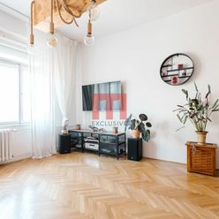 Na prenájom priestranný staromestský 2 izbový byt s vysokými stropmi na Povrazníckej ulici
