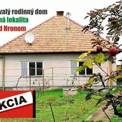 Predaj zachovalého rodinného domu s pozemkom v obci Jur nad Hronom. 705 m2