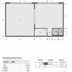 nebytový (administratívny) priestor v top lokalite v novostavbe