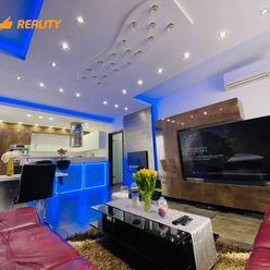 EXKLUZÍVNE- Luxusný 3i byt s 56m2 garážou + kompletne zariadený