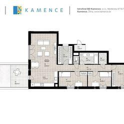 NOVOSTAVBA: Byt 4+kk, Kamence - Kysucké Nové Mesto / D1.5 - Skolaudované!