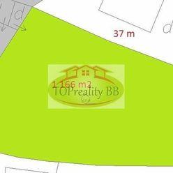 Stavebný pozemok so sieťami 1 166 m2, 37 x 32 m,  Dolná Mičiná, pri B. Bystrici –  cena 95 000 €