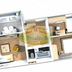 Byt 3 izbový byt typu MNKS 64 m2 s loggiou,  B. Bystrica, po kompletnej  rekonštrukcii – Cena 130 00