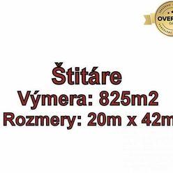ŠTITÁRE, pozemok 825 m2, vhodný na výstavbu domu, okr. Nitra