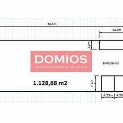 Prenájom skladovej haly (1.128,68 m2, kancel, vykur., rampa, parking, KE-Juh)