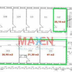 Prenájom: *MAXEN*, Administratívne priestory, areál Južná tr., 20 m2 - cca 185 m2, Košice IV - Juh