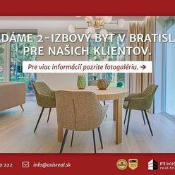 AXIS REAL:: Hľadáme pre našich klientov 2-izbový byt v Bratislave V.
