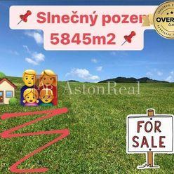 PREDAJ: Slnečný stavebný pozemok o rozlohe 5845m2 v obci Zubák