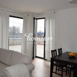 PRENÁJOM 2 izbový  moderný byt s veľkou terasou, garáž