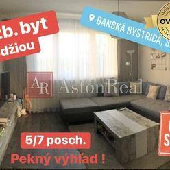 NA PREDAJ: komplet zariadený 2 izb. byt 50m2 s lodžiou 5/7 posch. v BB