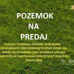 PRIEVIDZA - pozemok 958m2